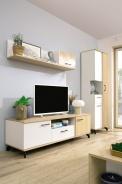 Obývacia stena Otis - dub/biela