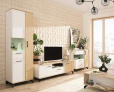 Obývacia stena I Otis - dub/biela