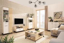 Obývacia izba Otis - dub/biela