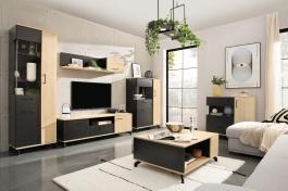 Obývacia izba I Otis - dub/čierna