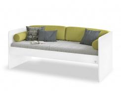 Jednoduchá posteľ Pure 90x200cm - biela