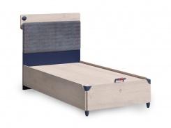Veľká posteľ s úložným priestorom 120x200cm Lincoln - dub/tmavo modrá