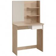 Toaletný stolík Kana - dub jackson/biela