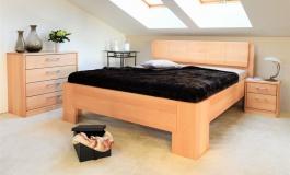 Masívna posteľ s úložným priestorom Manhattan 1 - 160/180 x 200cm - výber odtienov