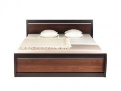 Manželská posteľ Forrest 160x200cm - orech tmavý / dub milano
