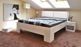 Masívna posteľ s úložným priestorom Manhattan 2 - biela - 160/180 x 200cm