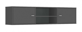 Horná skrinka s 2 dvierkami REA Denisa Up 002 - graphite