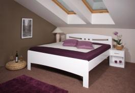 Masívna posteľ s úložným priestorom Evita 6 - 160/180 x 200cm - biela