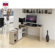 PC stôl, dub san remo / biela, NOE NEW
