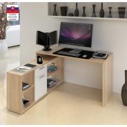 PC stôl, dub sonoma / biela, NOE NEW