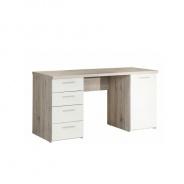 PC stôl, dub pieskový / biela, VALERIA