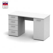 PC stôl, biela, DTD laminovaná, Eustache