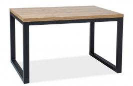 Jedálenský stôl LORAS II 120x80 dyha dub / čierna