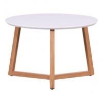 Konferenčný stolík Mimzy - biela / dub