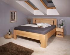 Masívna posteľ s úložným priestorom Olympia 1 - 80/90/100 x 200cm - výber odtieňov