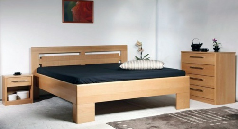 Masívna posteľ s úložným priestorom Varezza 3 - 80