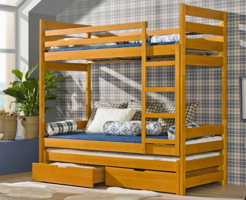 Detská posteľ FILIP poschodová s prístelkou