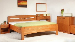 Masívna posteľ s úložným priestorom Evita 1-80/90