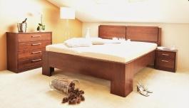 Masívna posteľ s úložným priestorom Manhattan 2 - 80/90/100 x 200cm - výber odtieňov