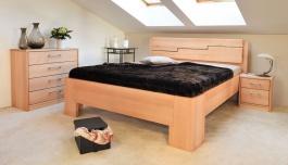 Masívna posteľ s úložným priestorom Manhattan 3 80