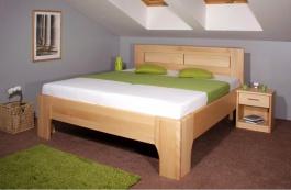 Masívna posteľ s úložným priestorom Olympia 3 - 80/90/100 x 200cm - výber odtieňov