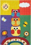 Detský koberec Sovičky color