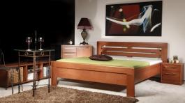 Masívna posteľ s úložným priestorom Arleta 2-120/1