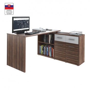 PC stolík, slivka / biela, RAFAEL NEW