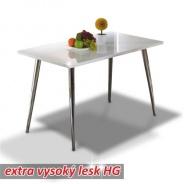 Jedálenský stôl 120x70, MDF + chróm, extra výška lesk HG, PEDRO