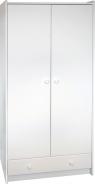 Šatníková skriňa Dany 2D1S - biela