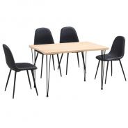 Jedálenský stôl, svetlý buk / čierna, GORDAN