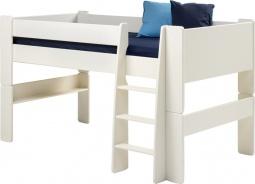 Detská vyvýšená posteľ Dany 90x200 cm (výška 113cm) - biela