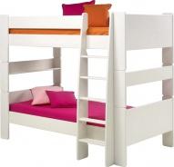 Detská poschodová posteľ Dany 90x200 cm - biela