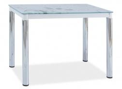 Jedálenský stôl DAMAR II biela-chróm