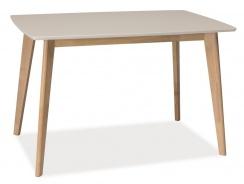 Jedálenský stôl COMBO biela / dub