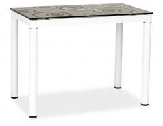 Jedálenský stôl DAMAR čierno-biely