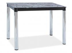 Jedálenský stôl DAMAR II čierna-chróm