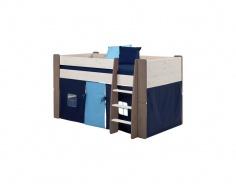 Textilný domček k vyvýšenej posteli Dany - tmavo modrá