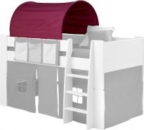 Textilný tunel k vyvýšenej posteli Dany - lila / ružová