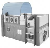 Textilný tunel k vyvýšenej posteli Dany - modrá