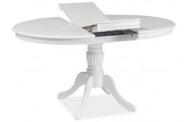 Jedálenský stôl OLIVIA rozkladací biely