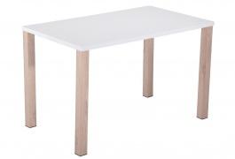 Jedálenský stôl ALPINO-781 biely lesk / dub sonoma