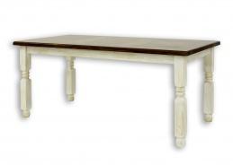 Jedálenský rustikálny stôl z masívneho dreva 90x160cm MES 01 A s hladkou doskou - výber morenia