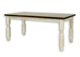 Jedálenský sedliacky rustikálny stôl z masívneho dreva 90x160cm MES 01 A s hladkou doskou - výber morenia