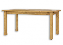 Drevený jedálenský stôl 80x120 MES 02 A s hladkou doskou - výber morenie