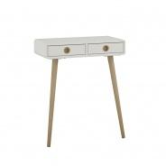 Odkladací stolík Soft - biely