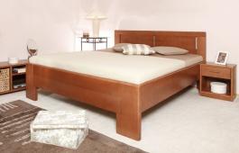 Masívna posteľ s úložným priestorom DeLuxe 3 - 120/140 x 200cm - výber odtieňov