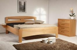 Masívna posteľ s úložným priestorom Evita 2-120