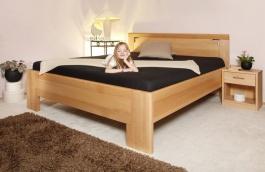 Masívna posteľ s úložným priestorom Deluxe 2 - 120/140 x 200cm - výber odtieňov
