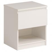 Nočný stolík Magic - biela